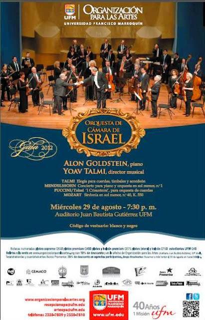 Orquesta de Cámara de Israel  UNICA PRESENTACION