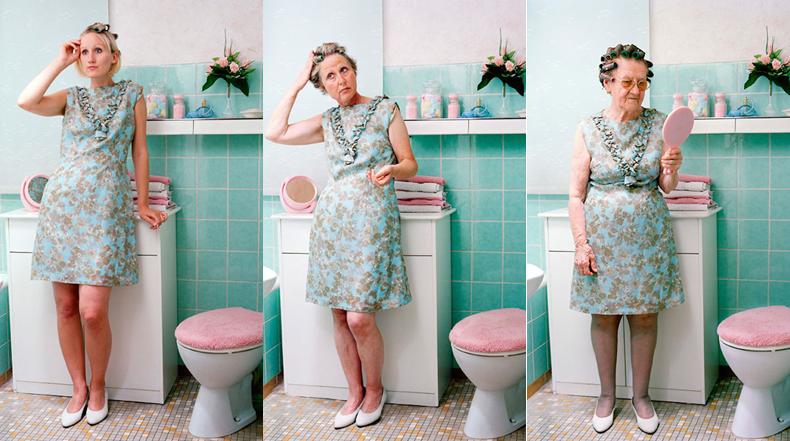 3 generaciones de mujeres posan con la misma ropa para esta fascinante serie de fotos