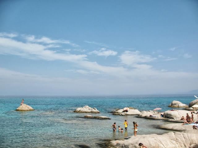 Portokali beach white rocks, Greece
