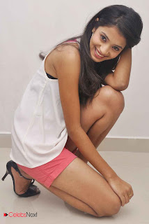 Nikita Latest  Picture Shoot Gallery in Pink Shorts at Naturals Family Salon Launch ~ Celebs Next