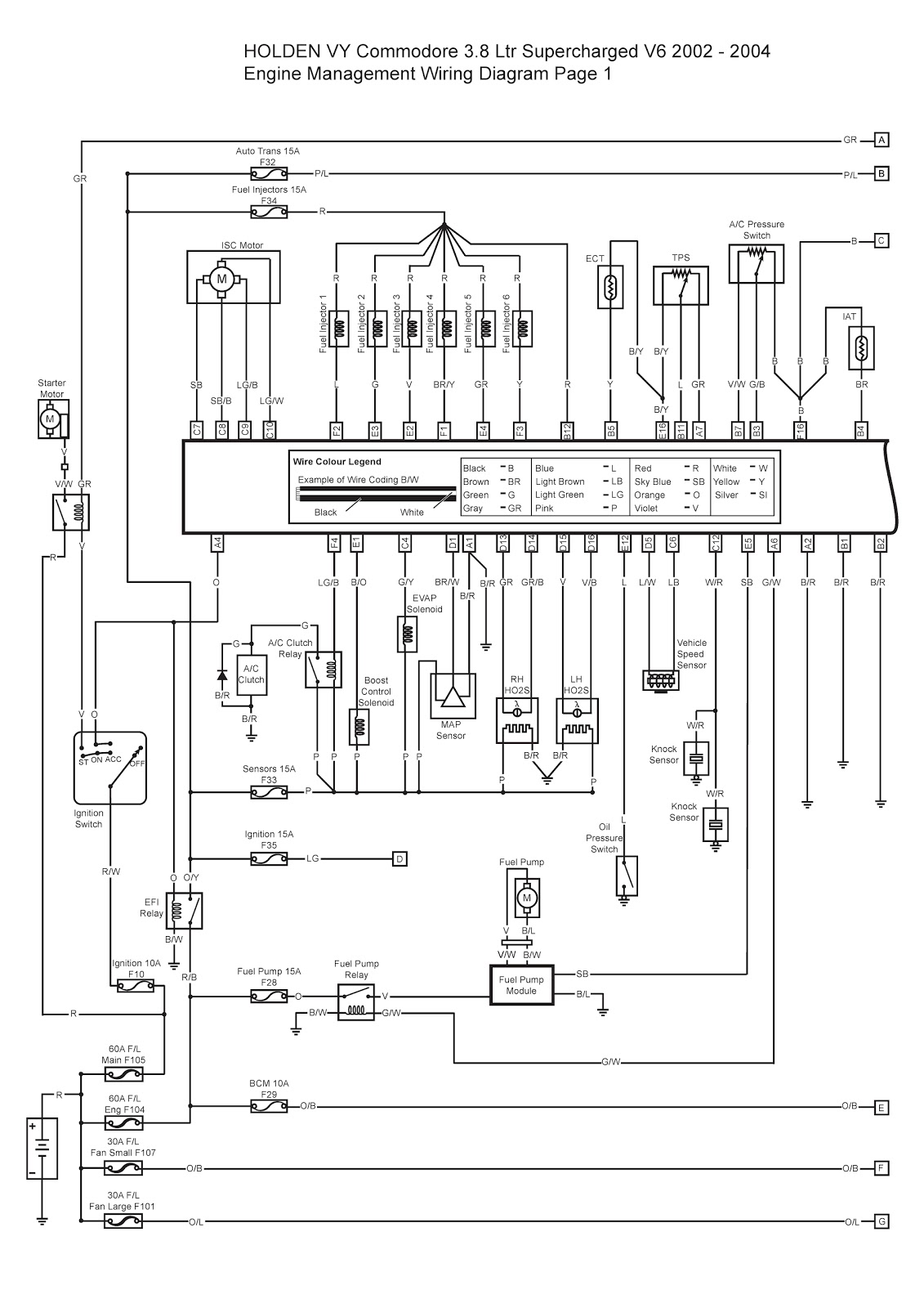 holden vy commodore ltr supercharged v engine 2002 2004 holden vy commodore 3 8 ltr supercharged v6 engine management wiring diagram 1