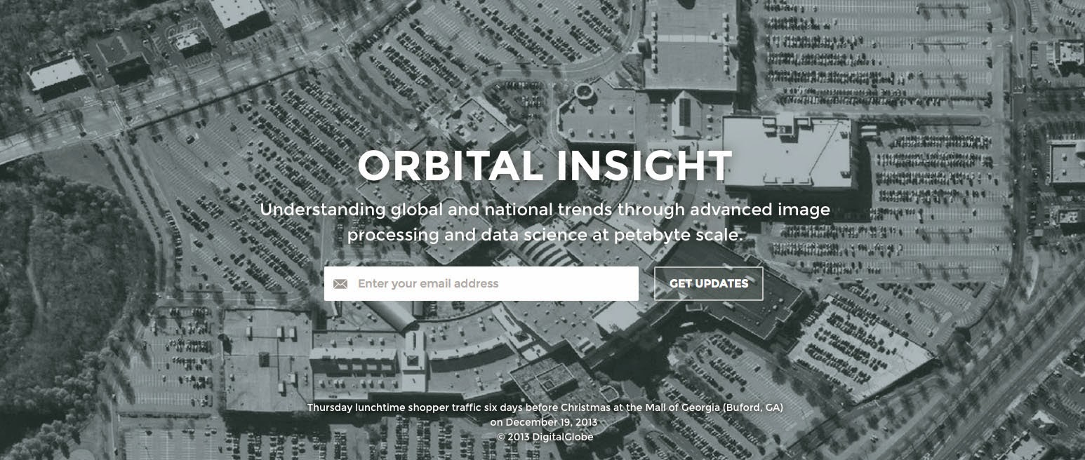 image a screen grab from the homepage of orbital insight