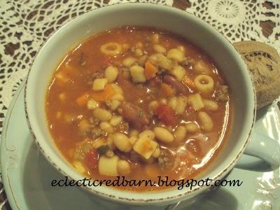 Eclectic Red Barn: Pasta E Fagioli Soup