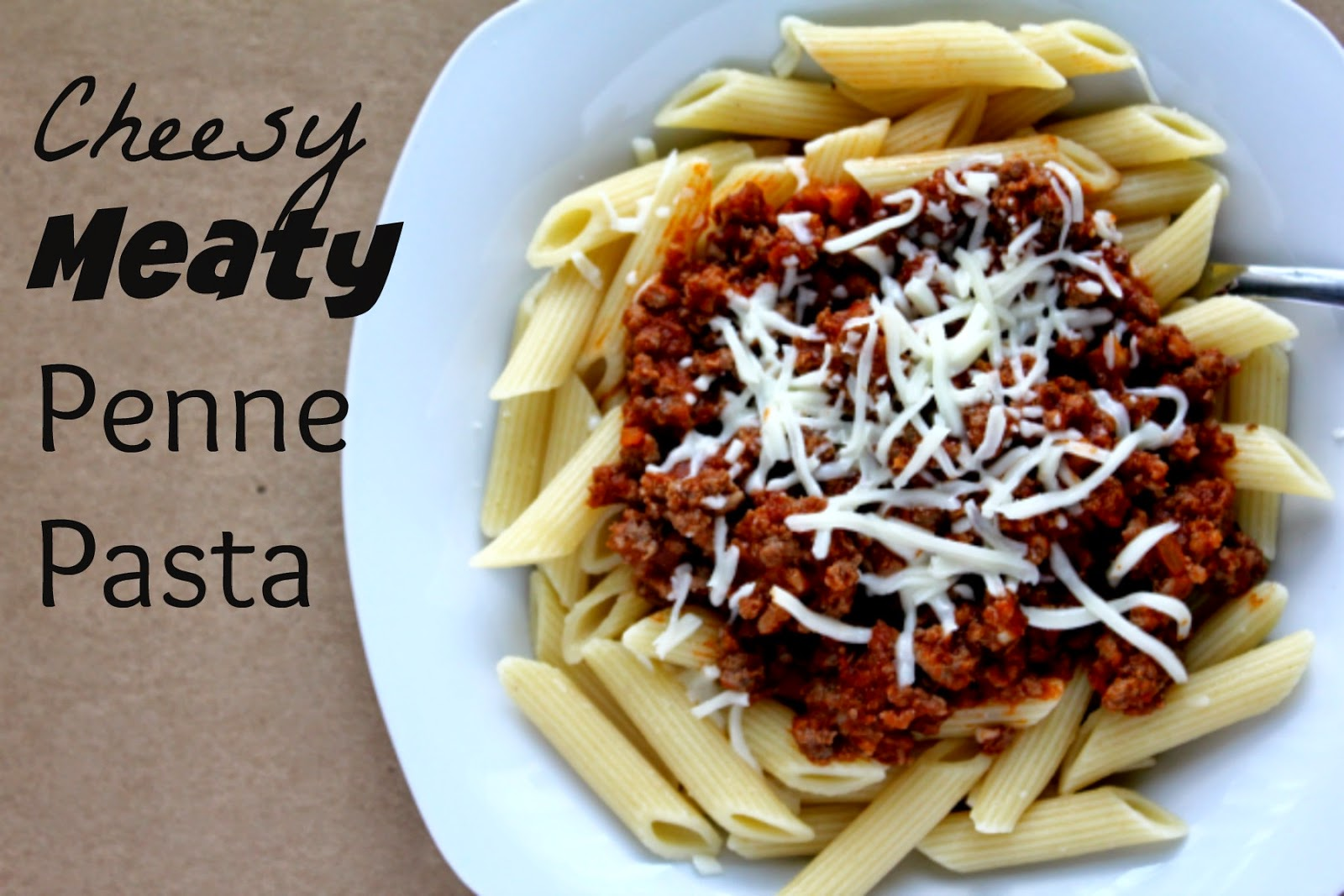 try this Cheesy Meaty Penne Pasta tonight. I guarantee your family will love it!!