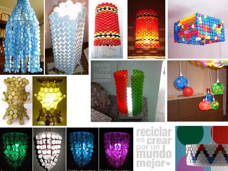 lamparas con materiales de reuso