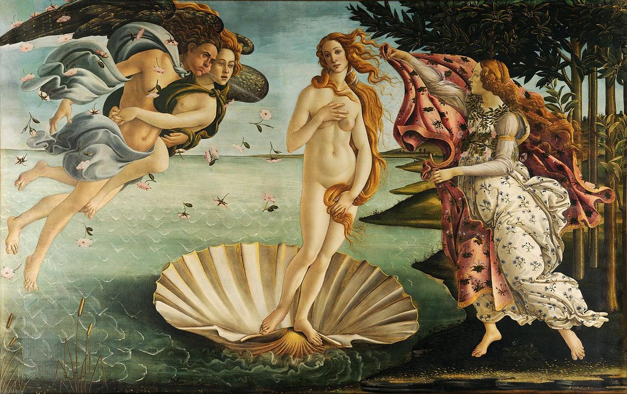 Nascita di Venere (Sandro Botticelli, ca. 1484)