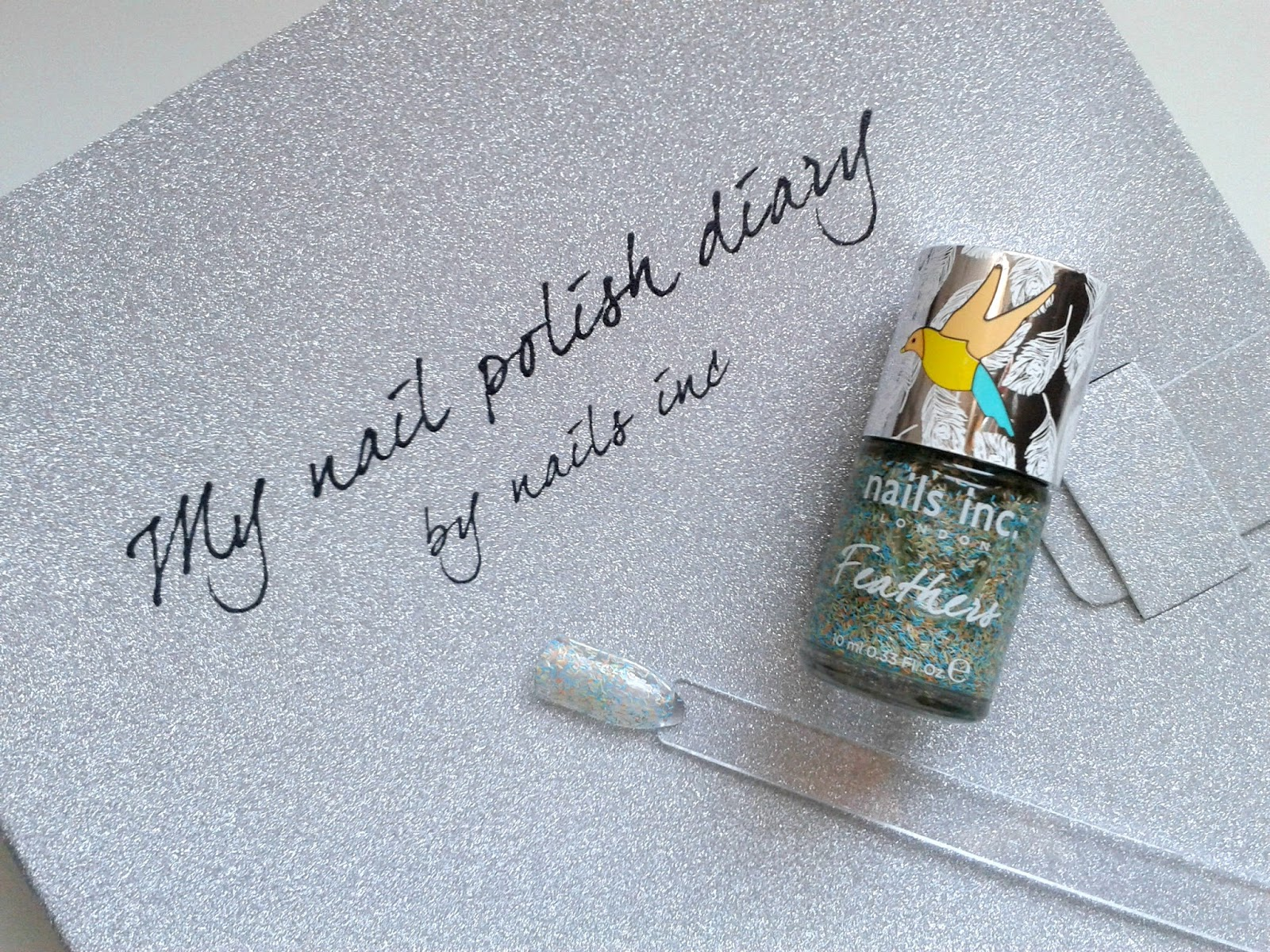 Nails Inc Nail Polish Diary: June Nails Inc Chester Feather Effect Polish Beauty Review