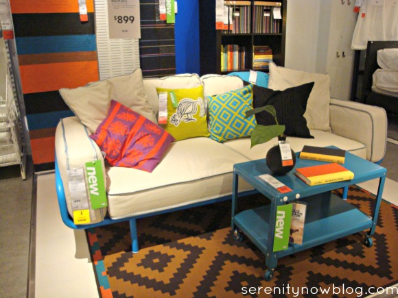 IKEA Industrial Style Coffee Table on Casters, from Serenity Now blog