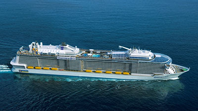 Royal Caribbean's New Quantum of the Seas Sets Sail From New Jersey in the Fall 2014.