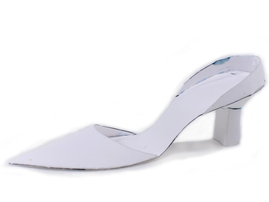 Cinderella Paper Shoe Template Paper shoe in white with heel