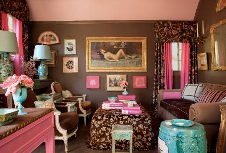 Chinoiserie chic the pink chinoiserie desk for Mary mcdonald interior design book
