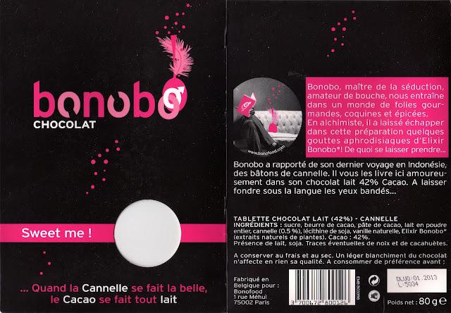 tablette de chocolat lait gourmand bonobo lait cannelle