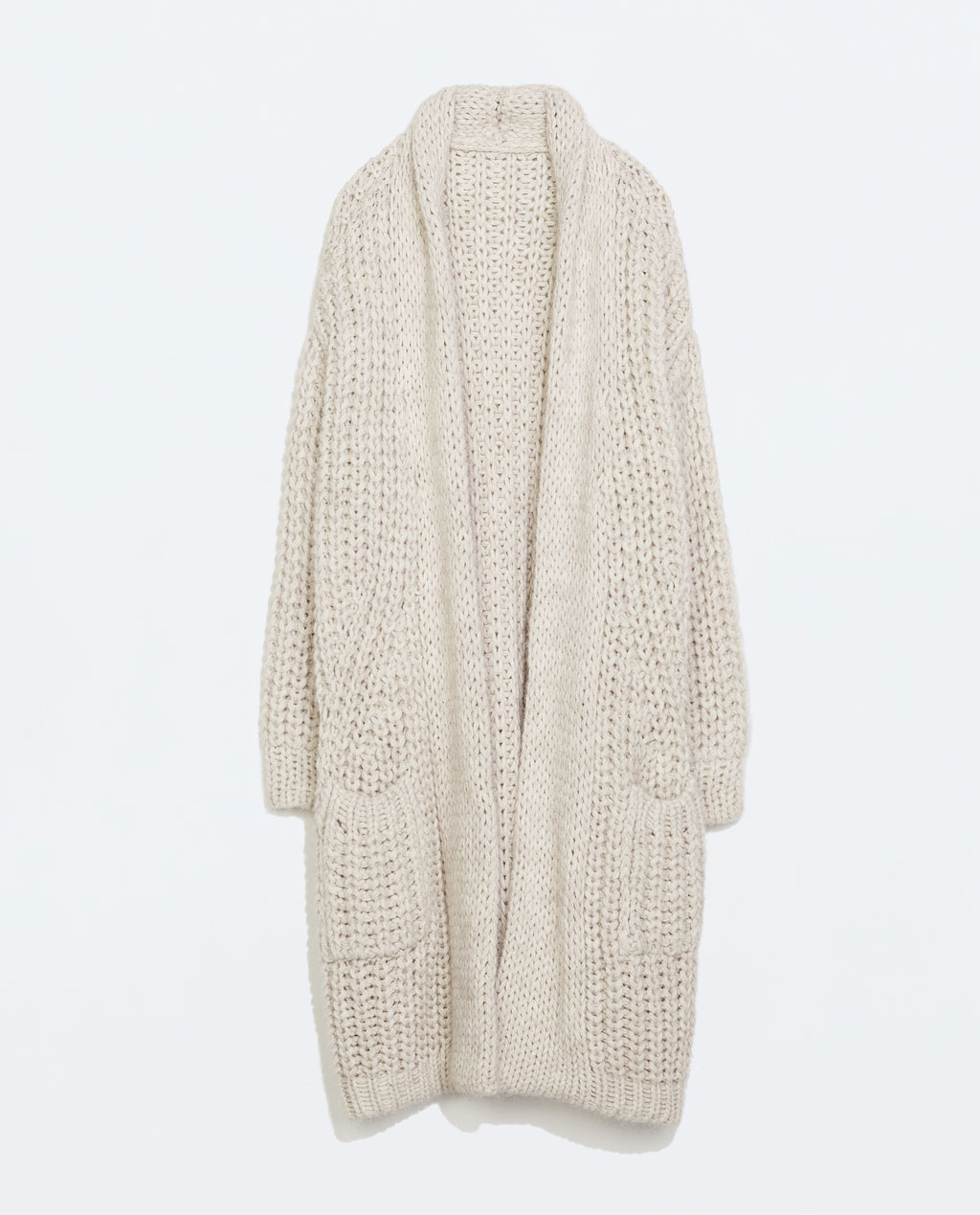 http://www.zara.com/uk/en/woman/knitwear/cardigans/long-knit-coat-with-pockets-c498027p2349515.html