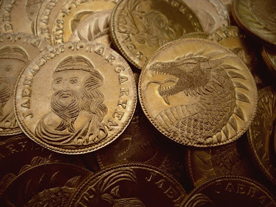 daemon dragón de oro moneda - Juego de Tronos en los siete reinos