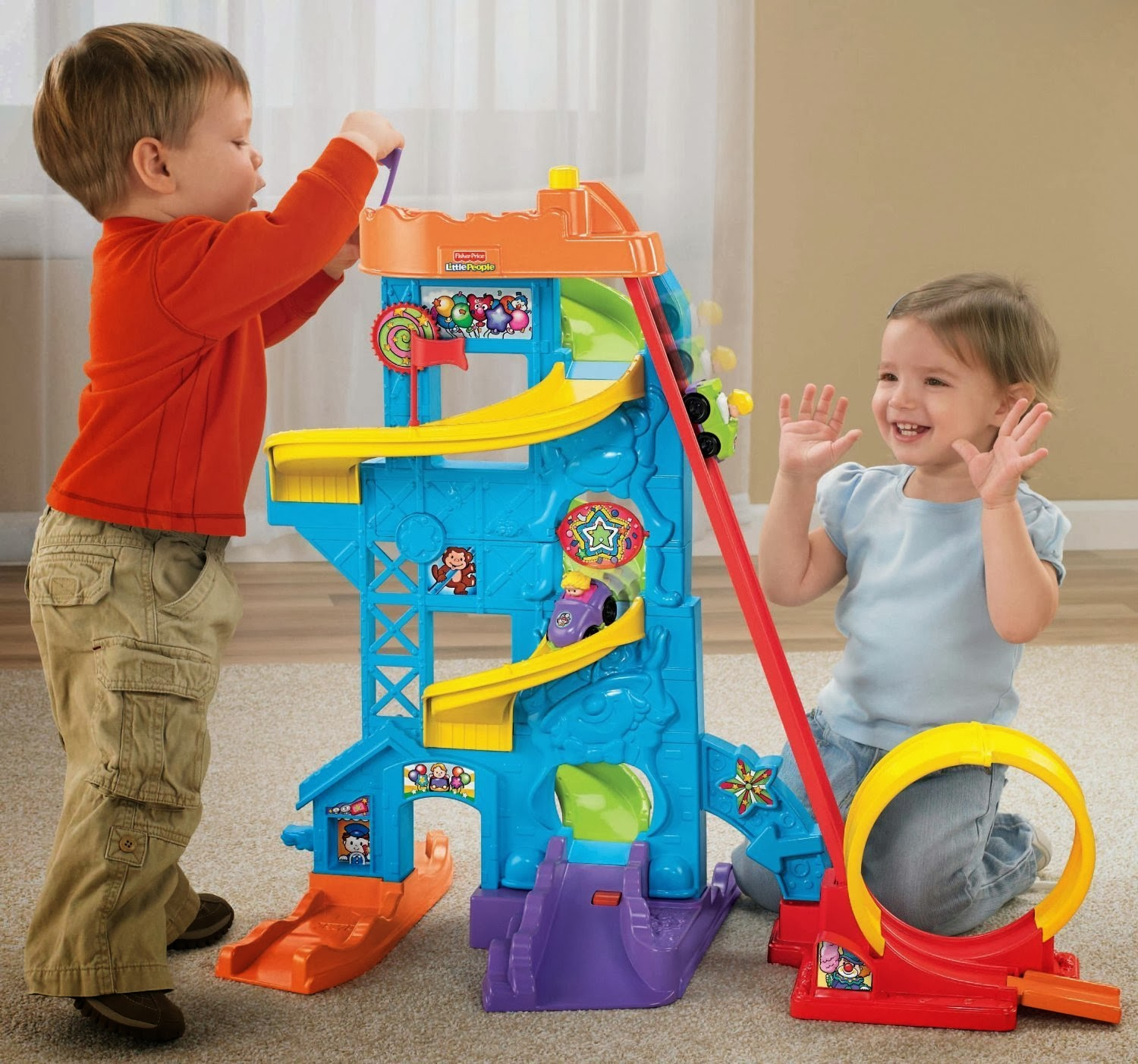 Toys For Toddlers One To Three Years : Fisher price wheelies loops n swoops amusement park