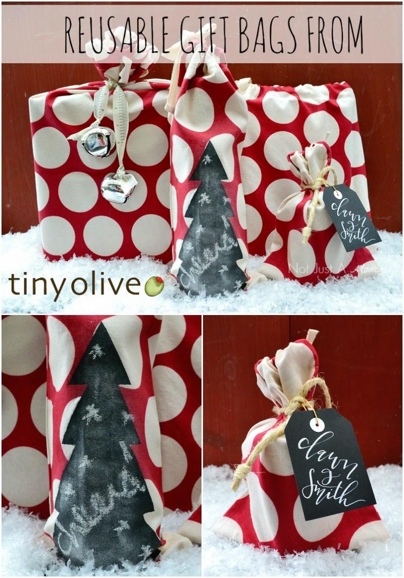 Tiny Olive reusable gift bag set