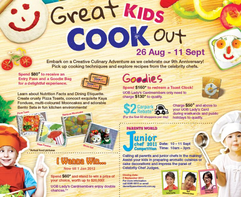 Great Kids Cook Out United Square Mall Plus Junior Chef Cooking Competition