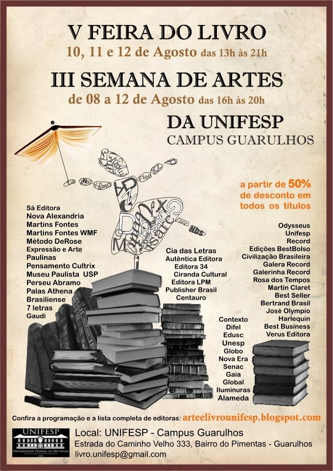 Feira do Livro e Semana de Artes Unifesp Guarulhos