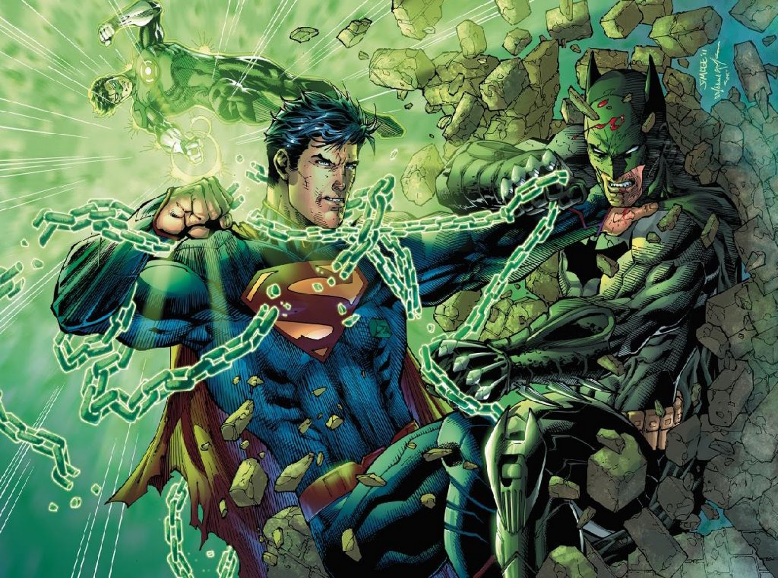 Superman vs green lantern - photo#9