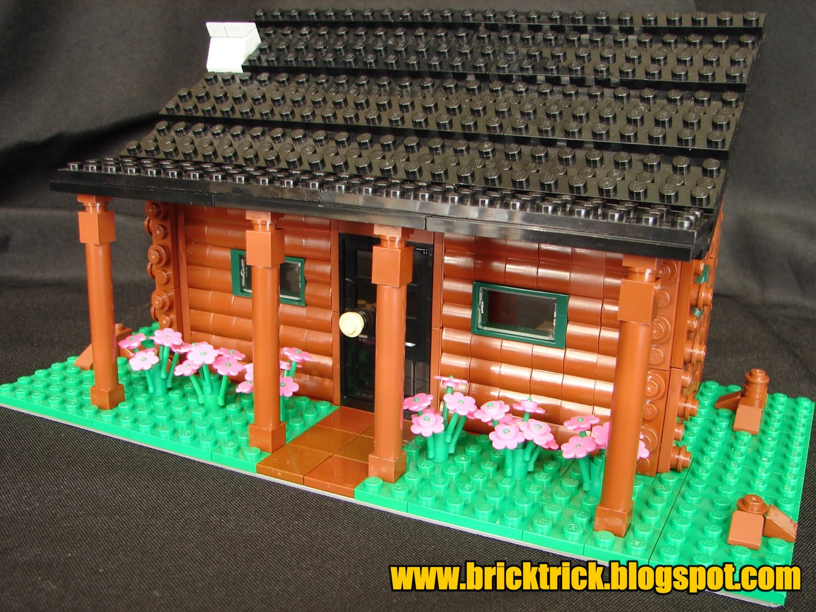 Brick trick log cabin project for Log cabin project