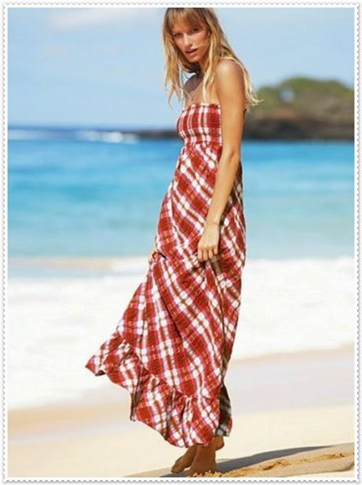 Für Sommertage schöne lange Kleider