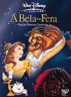 Capa do filme animado A Bela e a Fera, da Disney