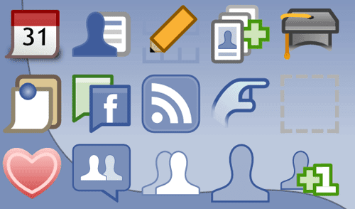 Facebook applications' icons