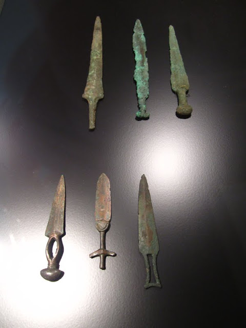 Daggers and knives in National Museet in Copenhagen, Denmark.