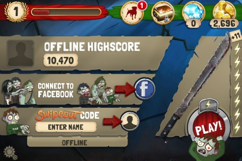 Zombie Swipeout Free App Game By