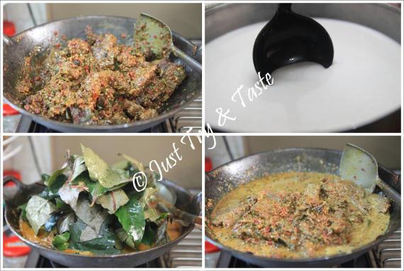 rendang daging sapi spesial dengan daun puding