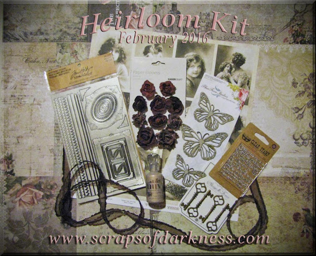Scraps of Darkness February 2016 Main Kit: Heirloom