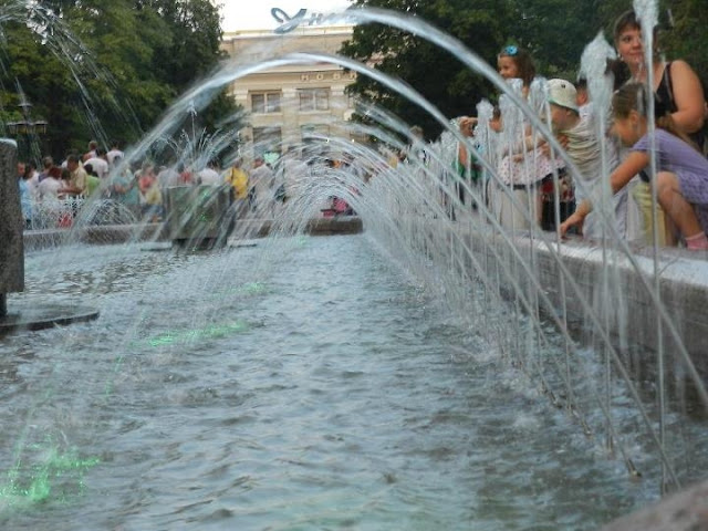 Fountains of Ternopil, Western Ukraine