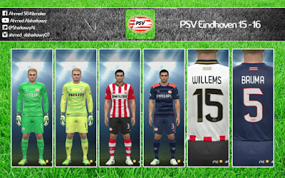 PES 2015 PSV Eindhoven 15-16 Kits by by A7MED SB