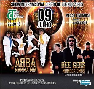 ABBA E BEE GEES DIA 9 NO CAÇA