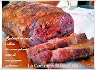 Redondo de Cerdo relleno de carne picada, paté de oca y pasas sultanas