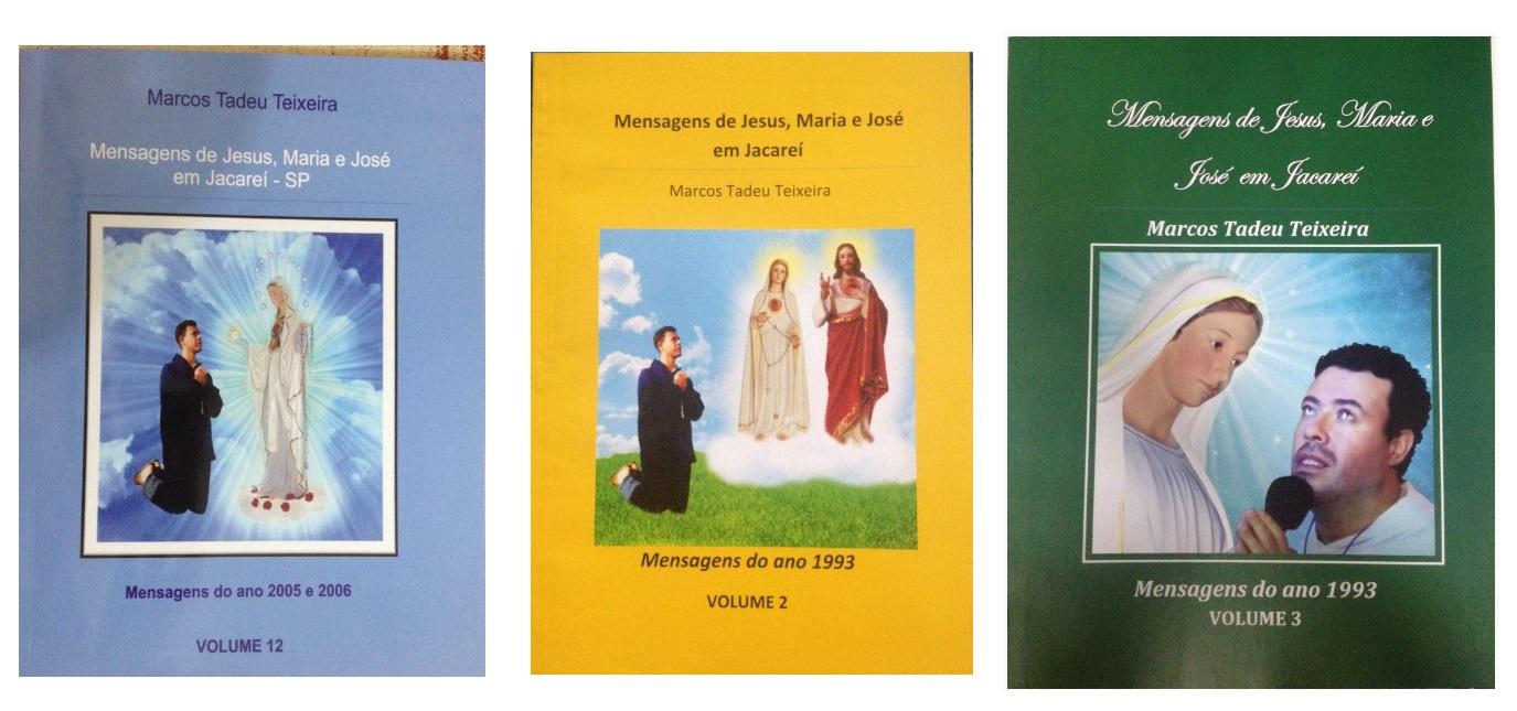 NOVOS LIVROS DAS MENSAGENS DE JESUS MARIA E JOSÉ NAS APARIÇÕES DE JACAREÍ