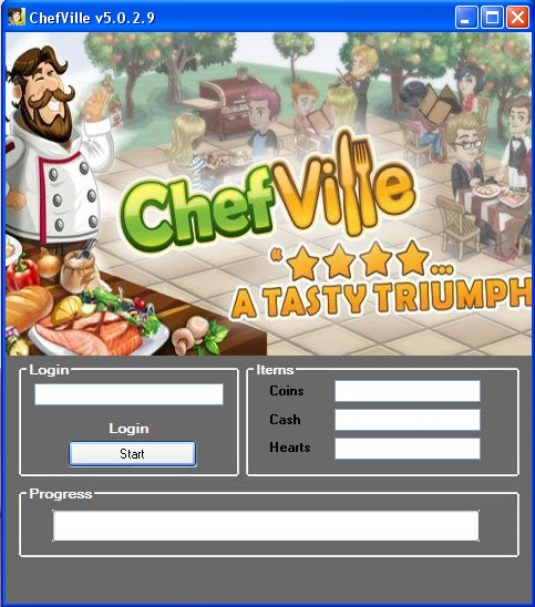 Cheats ChefVille Options