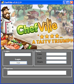 Keygen & Hack: Chef Ville Cheats Free Coins and Cash Hack