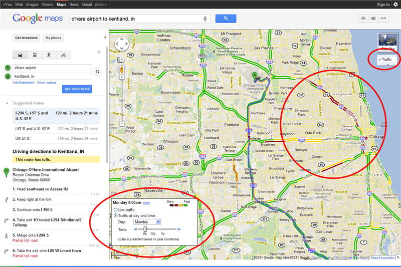 Driving Directions and Traffic Updates Using Google Maps ...
