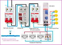 minutero escalera 3 hilos cuadro electrico comunidad