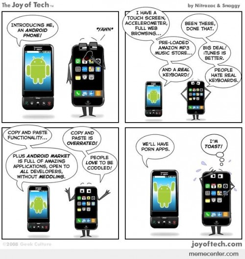 iphone vs android comics