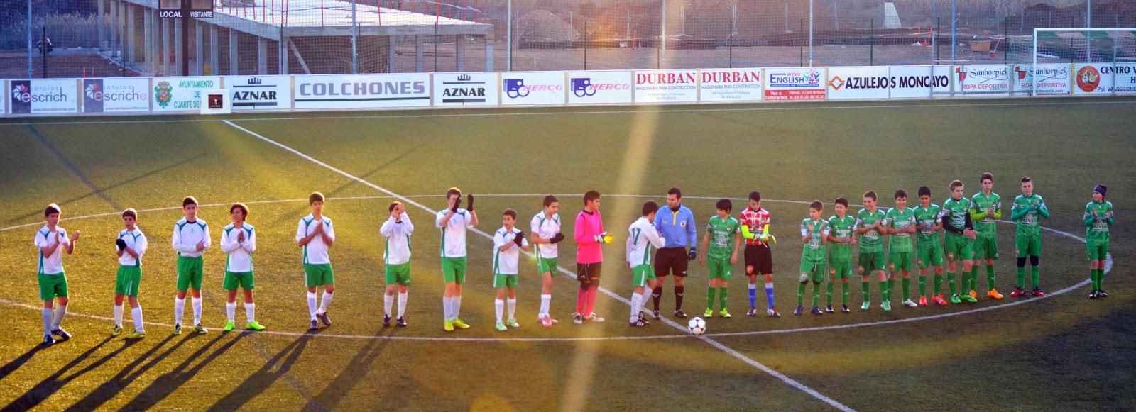 Fútbol Pasión Verde : JORNADA 15ª (17-01-15): CUARTE 1- OLIVAR 2