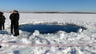 Otvor u Ledu od udara meteorita