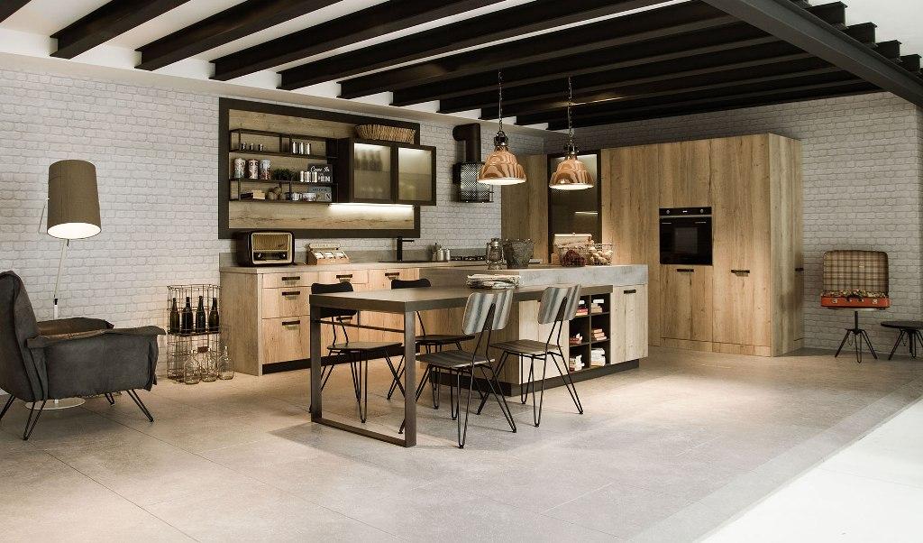 Envejecido e industrial: un ambiente no convencional - Cocinas con ...