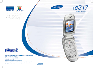 SGH E317 Portable Digital Telephone User Manual
