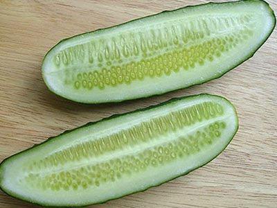 краставица разрязана на две