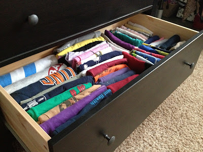 How to organize your t shirt drawers stress baking for T shirt drawer organization