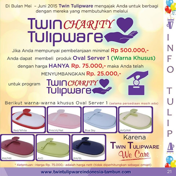 Twin Tulipware Charity 2015