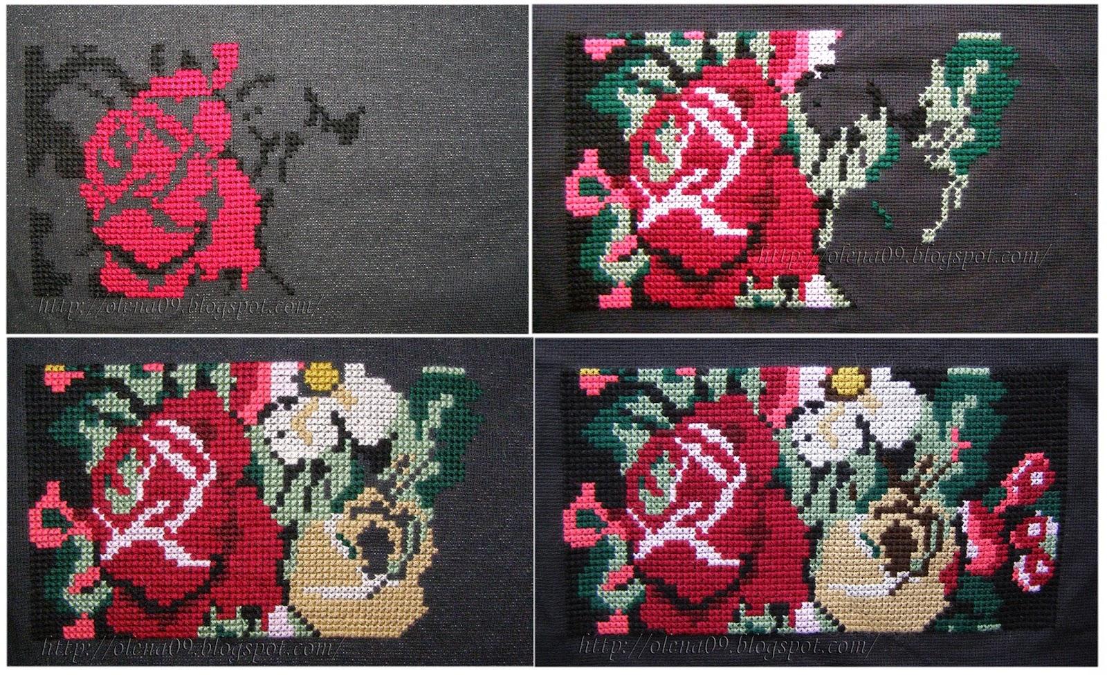 Схема вышивки клатчей