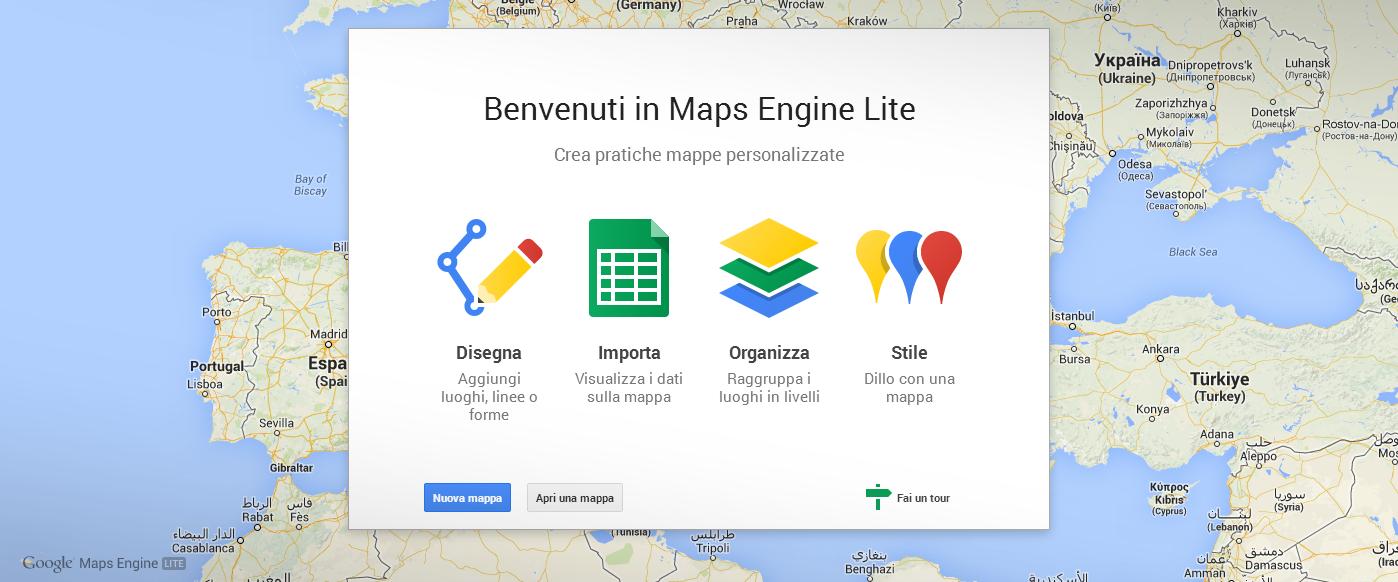 google maps engine il nuovo servizio per creare mappe personalizzate avanzate. Black Bedroom Furniture Sets. Home Design Ideas